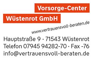Vorsorge-Center Wüstenrot GmbH | 71543 Wüstenrot Logo