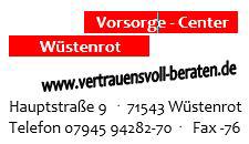 Vorsorge-Center Wüstenrot Schmid | 71543 Wüstenrot Logo